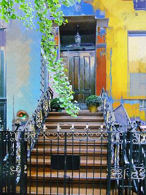 Townhouse In Spring Poster by RC deWinter