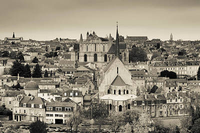 Townscape And Cathedrale St-pierre Poster