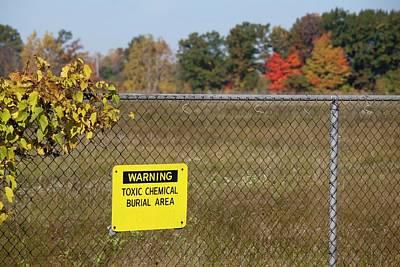 Toxic Dump Sign Poster