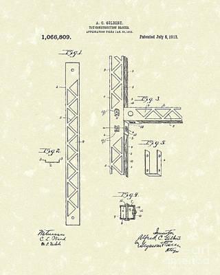 Toy Blocks 1913 Patent Art Poster by Prior Art Design