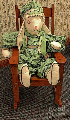Toy Bunny In Rocker Poster by Kathleen Struckle