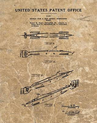 Toy Submarine Patent Poster