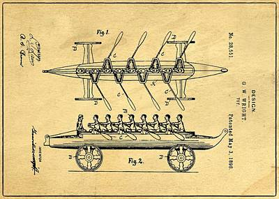 Toy Support Patent Drawing From 1898 1 Poster by Samir Hanusa