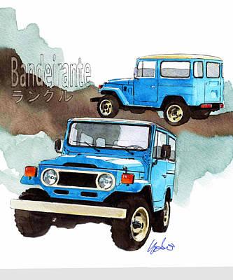 Toyota Bandeirante Poster by Yoshiharu Miyakawa