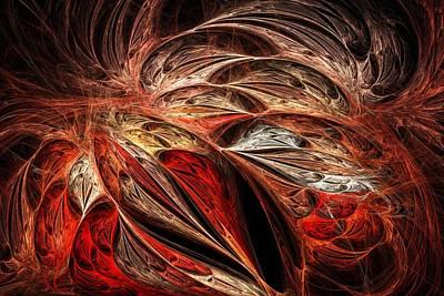 Traces Of Flame Poster by Anastasiya Malakhova