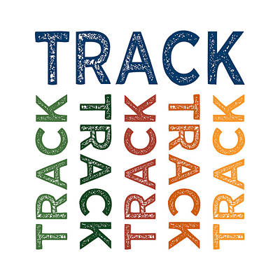 Track Cute Colorful Poster