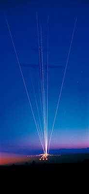 Track Lights Zurich Airport Switzerland Poster by Panoramic Images