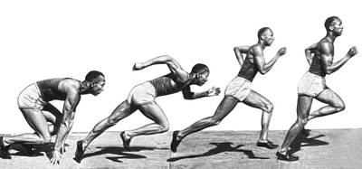 Track Star Jesse Owens Poster by Underwood Archives