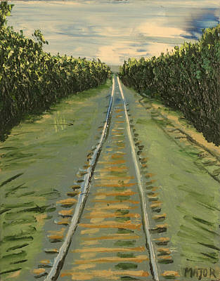 Tracks Between Davis And Woodland Poster by Clarence Major