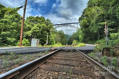 Tracks Under The Bridge Poster by Adam Jewell