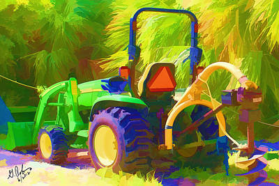 Tractor Poster by Gerry Robins