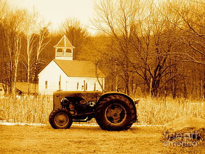 Tractor In The Field Poster by Desiree Paquette