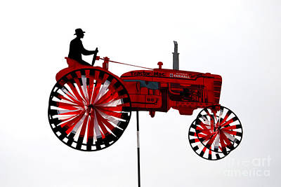 Tractor In The Sky Poster by Andrea Simon