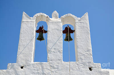 Traditional Belfry In Sifnos Island Poster
