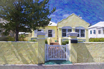 Poster featuring the photograph Traditional Bermuda Home by Verena Matthew