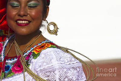 Traditional Ethnic Dancers In Chiapas Mexico Poster