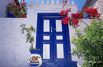 Traditional House In Hydra Island Poster by George Atsametakis