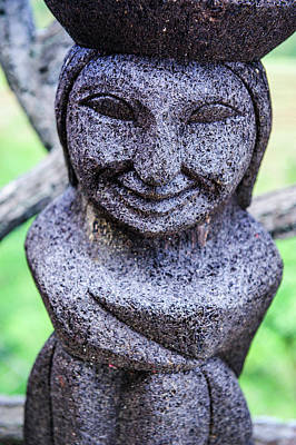 Traditional Ifugao Basalt Statues Poster