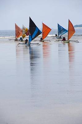 Traditional Indonesian Sailing Boats Poster
