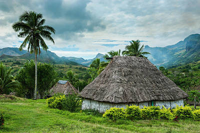 Traditional Thatched Roofed Huts Poster by Michael Runkel