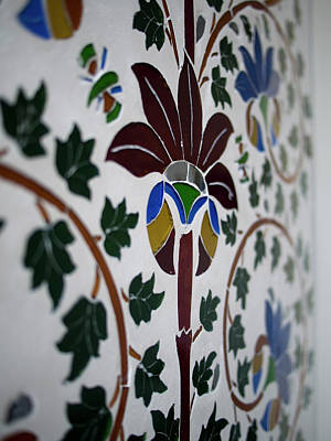 Traditional Wall Painting In Udaipur Poster