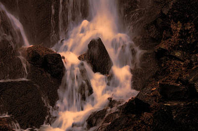 Traditional Waterfall At Sunset Poster