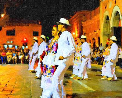 Traditional Yucatan Dancers Poster