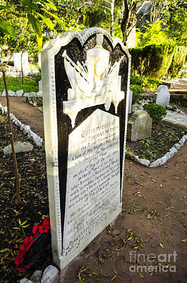 Trafalgar Cemetery Headstone Poster by Deborah Smolinske