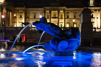 Trafalgar Square At Night Poster