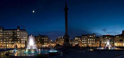 Trafalgar Square At Night, London Poster by Panoramic Images