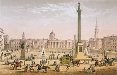 Trafalgar Square, C.1862 Poster by Achille-Louis Martinet