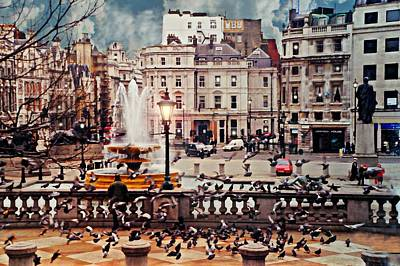 Trafalgar Square London Poster by Diana Angstadt