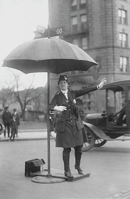 Traffic Cop In Washington D.c., Circa Poster by Stocktrek Images