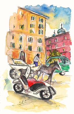 Traffic In Palermo Poster by Miki De Goodaboom