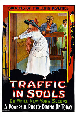 Traffic In Souls, Us Poster, 1913 Poster by Everett