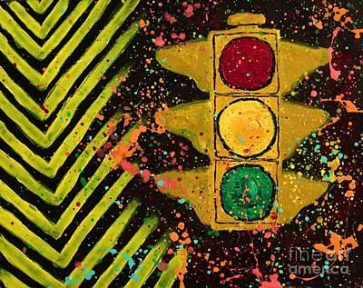 Traffic Jam Cropped Poster by Marina McLain