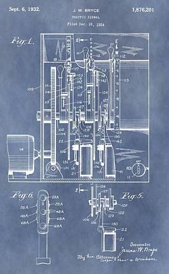 Traffic Light Patent Poster by Dan Sproul
