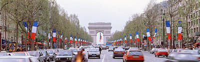 Traffic On A Road, Arc De Triomphe Poster by Panoramic Images
