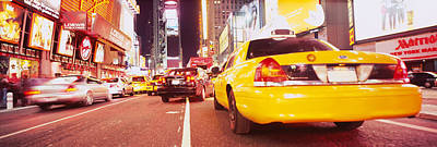 Traffic On The Road, Times Square Poster