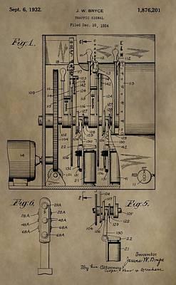 Traffic Signal Patent Poster