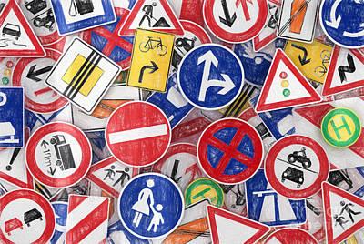 Traffic Signs Poster by Carsten Reisinger