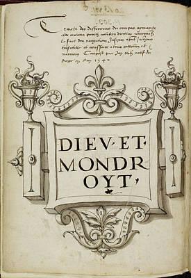 Traicte Des Differences Du Compas Aymante Poster by British Library