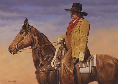 Poster featuring the painting Trail Boss by Ron Crabb