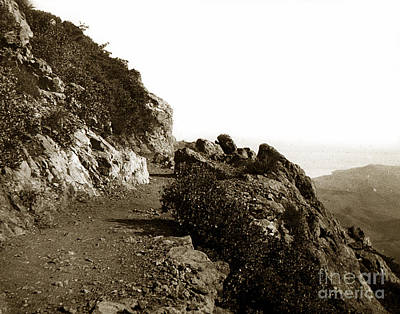 Poster featuring the photograph Trail On Mt. Tamalpais Marin Co California Circa 1902  by California Views Mr Pat Hathaway Archives