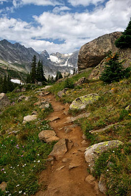 Trail To Lake Isabelle Poster by Ronda Kimbrow