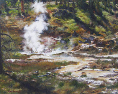 Trail To The Artists Paint Pots - Yellowstone Poster by Lori Brackett
