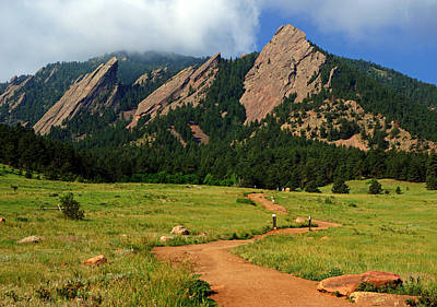 Trail To The Flatirons Poster by Daniel Woodrum