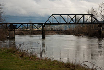 Poster featuring the photograph Train Bridge by Erin Kohlenberg