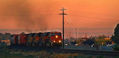 Poster featuring the photograph Train Coming Through by Lynn Hopwood