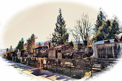 Train Graveyard Poster by Kelly Reber